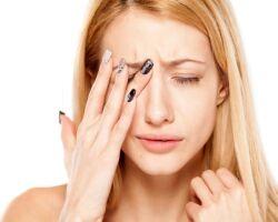 Опухло и болит верхнее веко глаза
