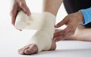Как быстро вылечить голеностопный сустав если он опух и болит
