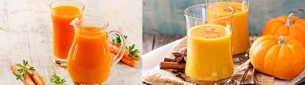 Сок из тыквы и моркови