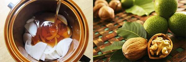 Мед, лук и грецкий орех
