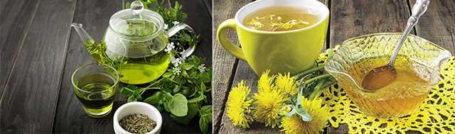 Зеленый чай и из одуванчиков от синяков