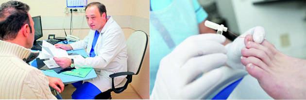 Лечение отека ног у врача