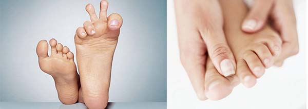 Разжать пальца на ногах