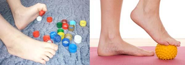 Поднять предмет пальцами ног