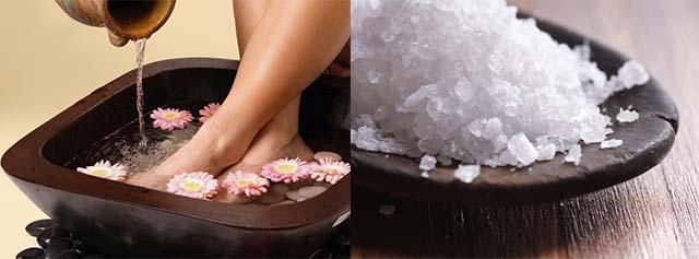Ванночка для ног и соль
