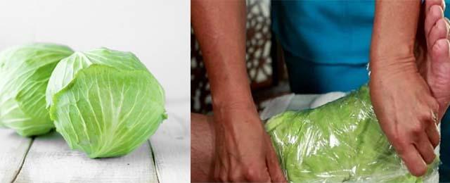 Компресс из капусты для голеностопа