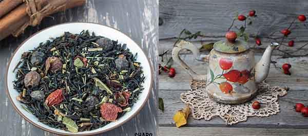 Чай из ольхи и шиповника