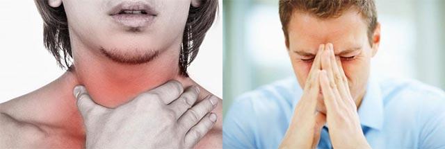 Боль в горле и в голове