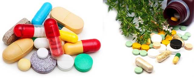 Витамины и таблетки рассыпались