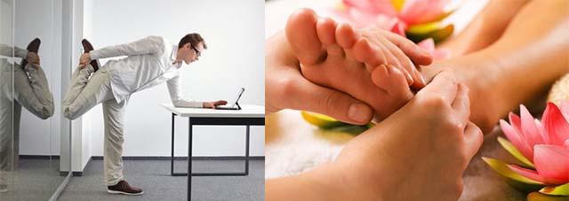 Разминка стопы ног