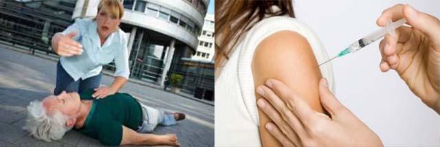 Лекарство внутримышечно в плечо и помощи при потере сознания