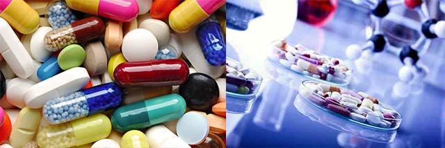 Много разных таблеток и антибиотиков