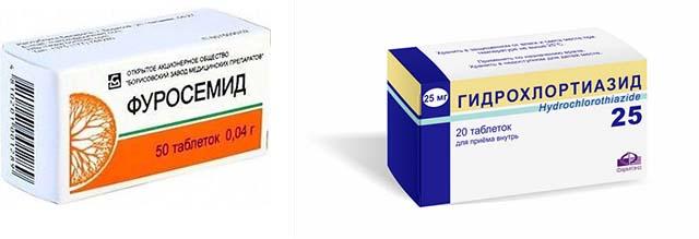 Гидрохлоротиазид и Фуросемид