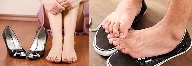 Тесная и маленькая обувь