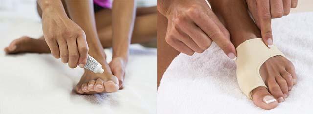 Бандаж и крем для большого пальца ноги