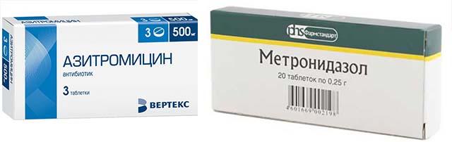 Метронидазол и Азитромицин