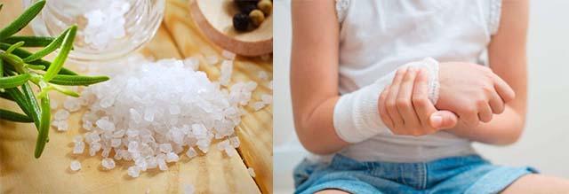 Компрессы для руки из соли