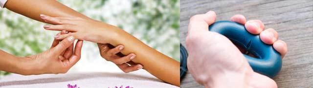 Массаж рук и кистевой эспандер
