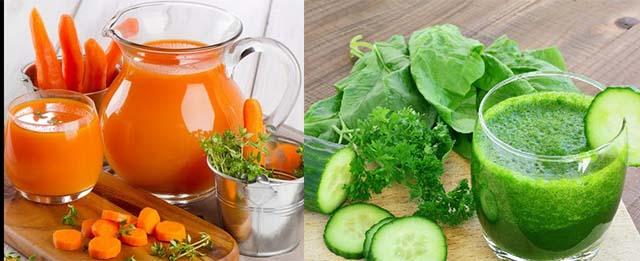 Сок из огурца и моркови