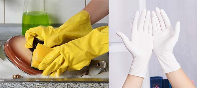 Резиновые перчатки для рук