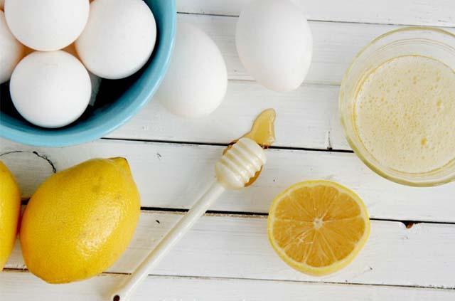 Яйца, апельсин и лимон