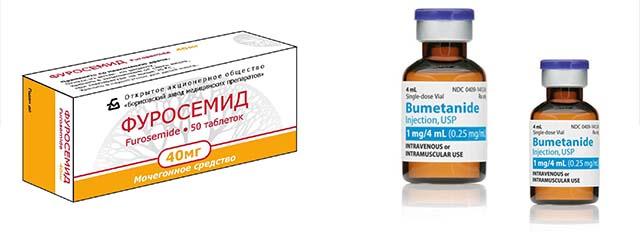 Мочегонные препараты: Буметанид и Фуросемид