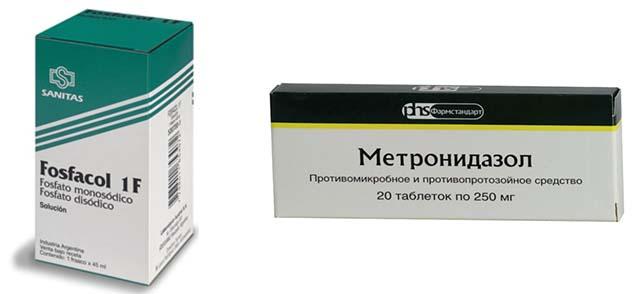 Метронидазол и Фосфакол