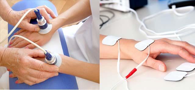 Процедуры: электрофорез и СМВ-терапия