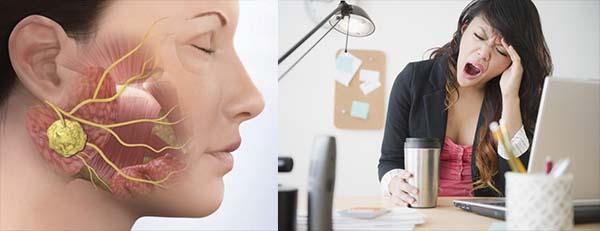 Сонливость и воспаление околоушных лимфоузлов