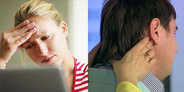 У девушки и мужчины болит голова