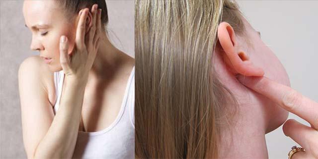 Пальпация ушных лимфоузлов