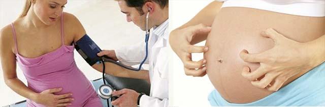 Проверка давления и зуд при беременности