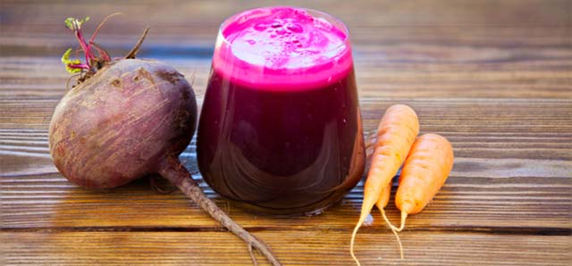 Сок свеклы и моркови