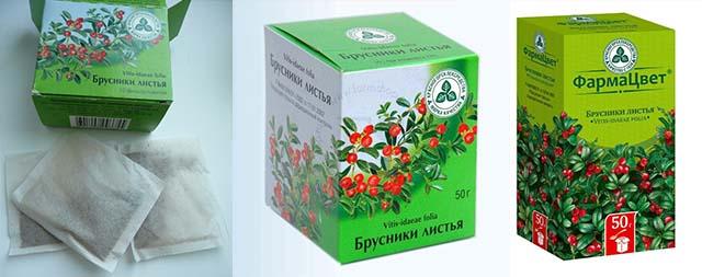 Листья растения в пакетиках