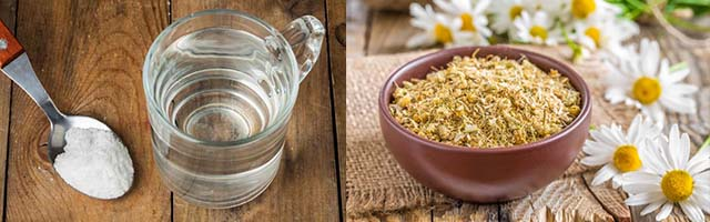 Сода и ромашка для полоскания