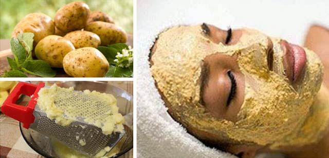 Картофельная маска от отеков