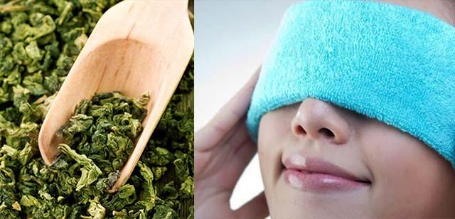 Компресс из зеленого чая