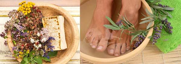 Ванночка для ног из трав