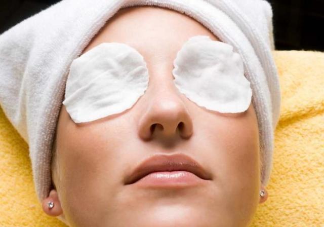 Компресс с антисептиком на глазах