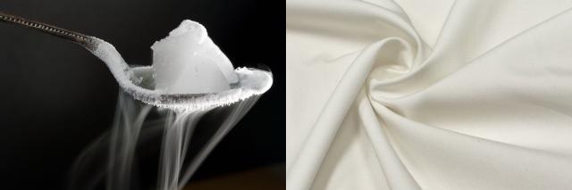 Сухой лед и ткань