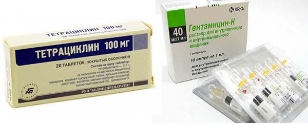 Тетрациклины и аминогликозиды