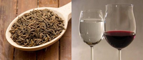 Семена укропа с водой и вином