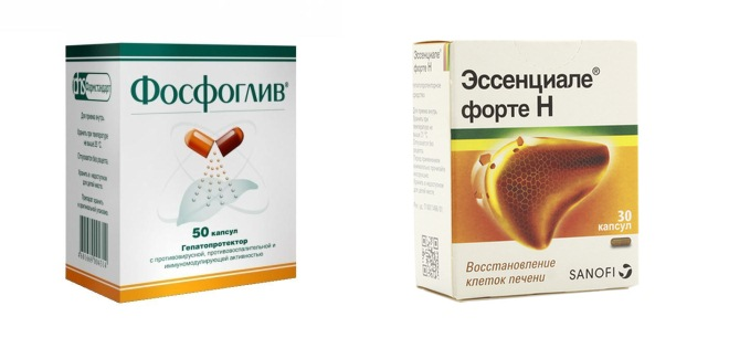 Препараты Эссенциале и Фосфоглив